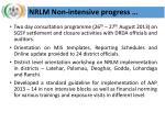 nrlm non intensive progress1