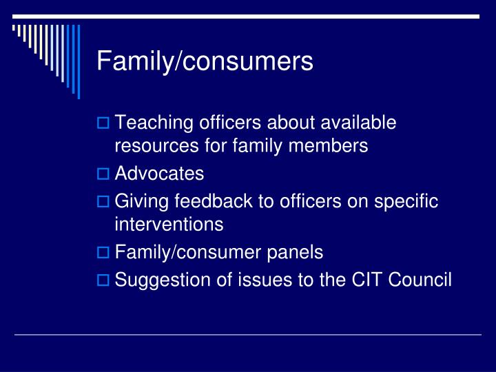 Family/consumers