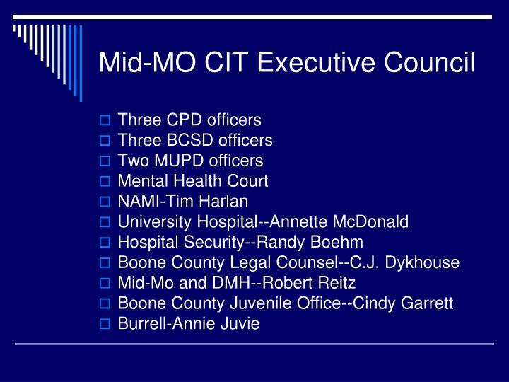 Mid-MO CIT Executive Council