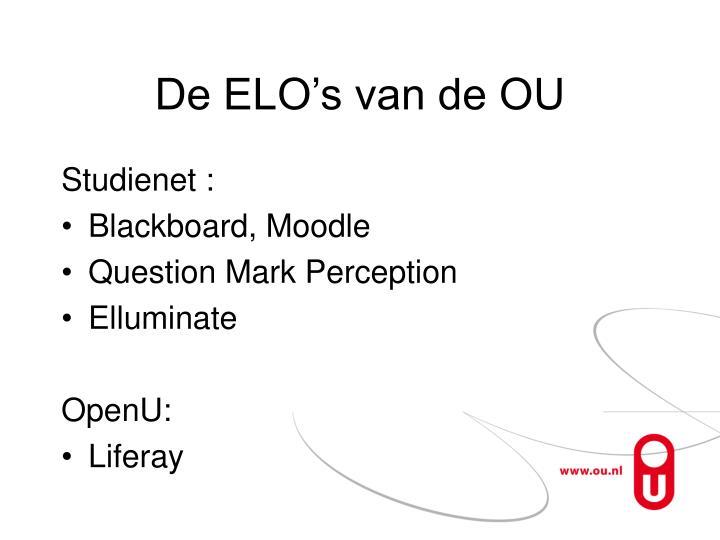 De ELO's van de OU