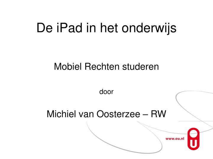 De iPad in het onderwijs
