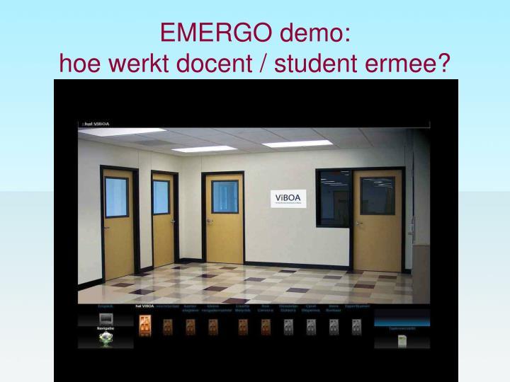 EMERGO demo: