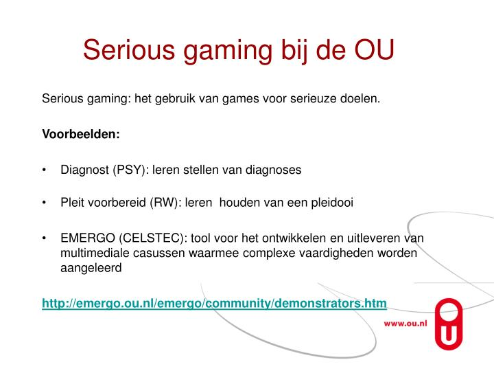 Serious gaming bij de OU