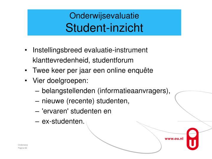Onderwijsevaluatie