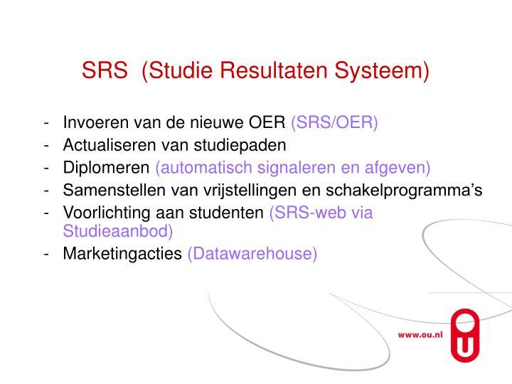 SRS  (Studie Resultaten Systeem)