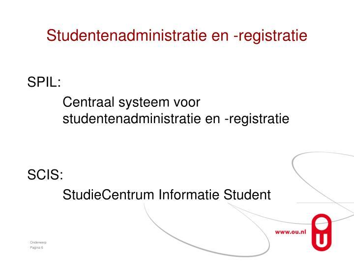 Studentenadministratie en -registratie