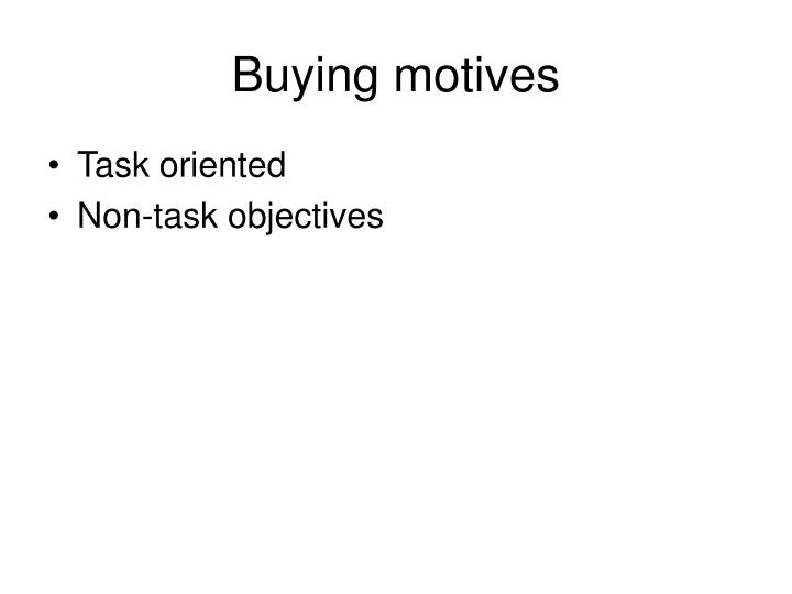 Buying motives