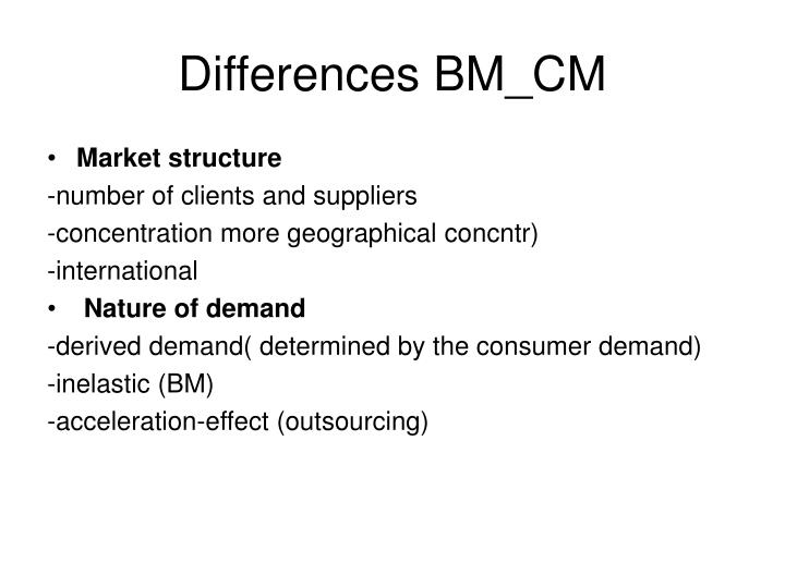 Differences BM_CM