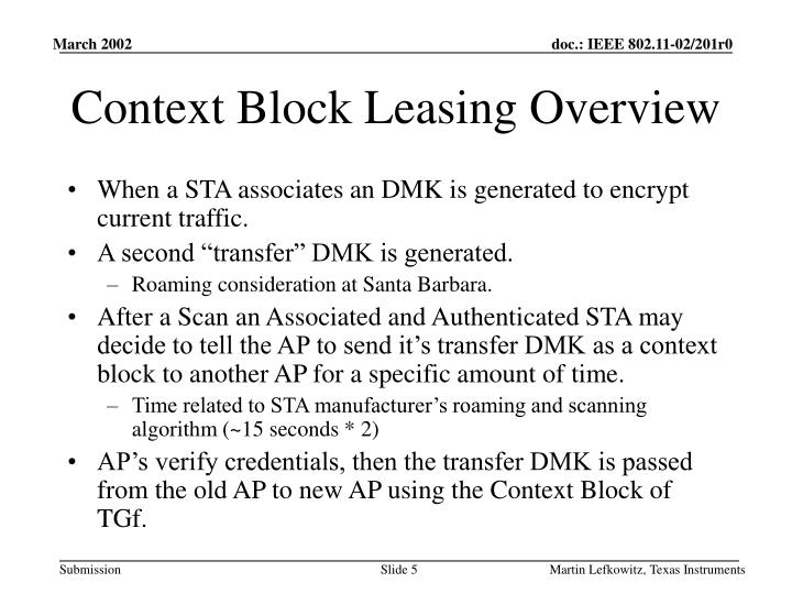 Context Block Leasing Overview
