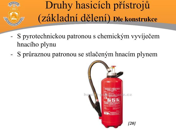 Druhy hasicích přístrojů