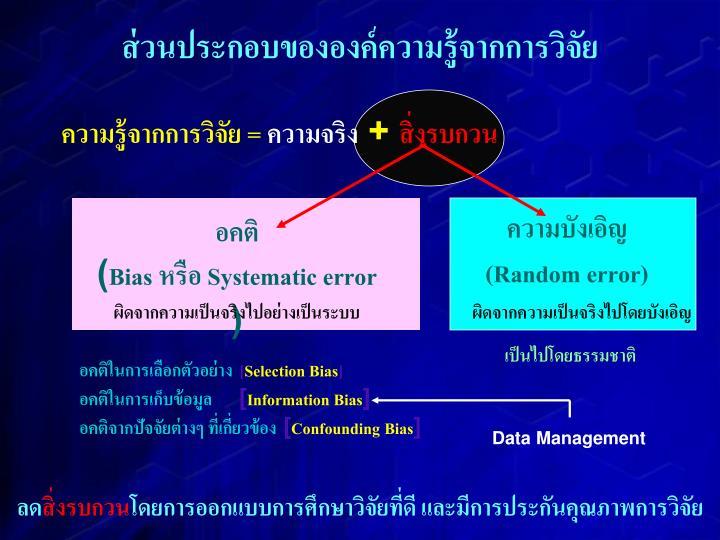 (Random error)