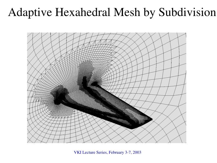 Adaptive Hexahedral Mesh by Subdivision
