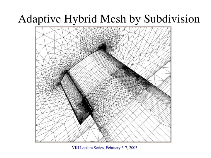 Adaptive Hybrid Mesh by Subdivision