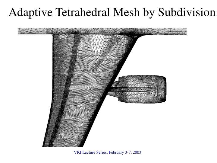 Adaptive Tetrahedral Mesh by Subdivision