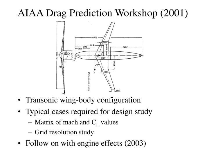 AIAA Drag Prediction Workshop (2001)