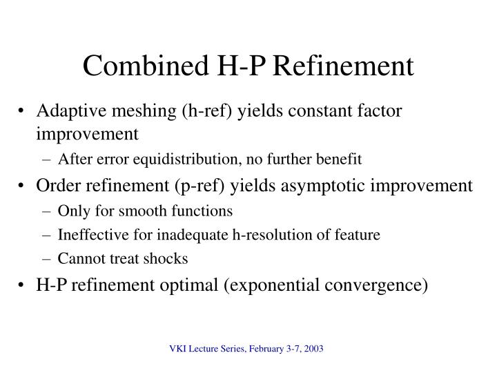 Combined H-P Refinement