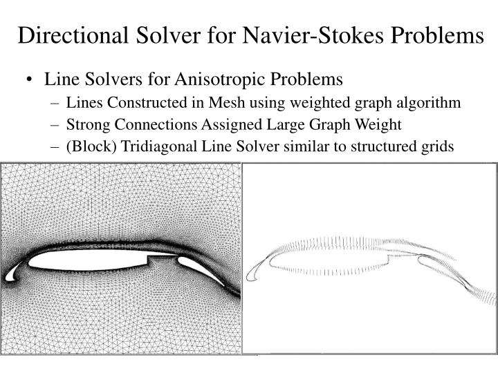 Directional Solver for Navier-Stokes Problems