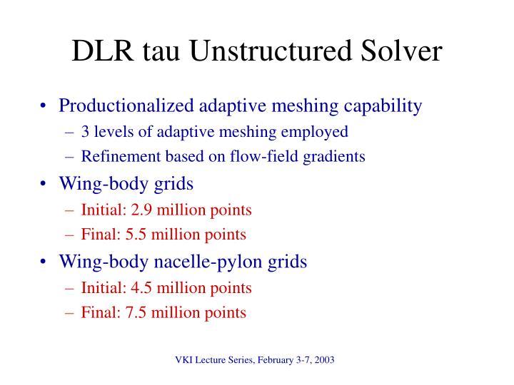 DLR tau Unstructured Solver