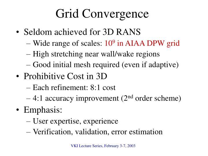 Grid Convergence