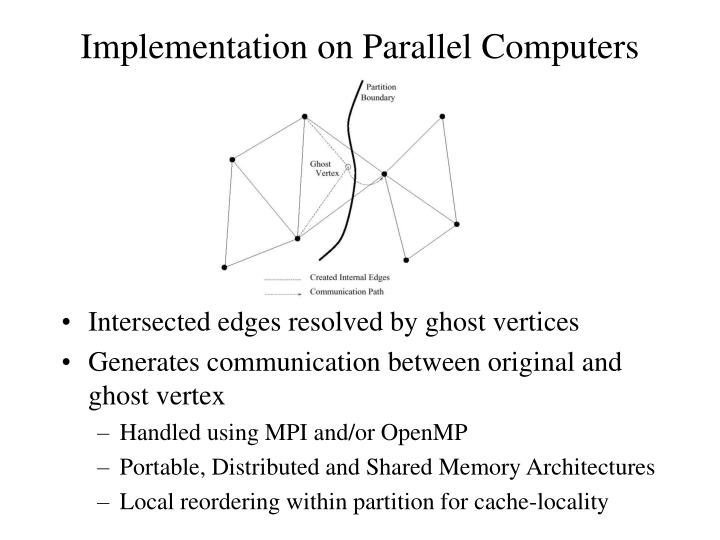 Implementation on Parallel Computers