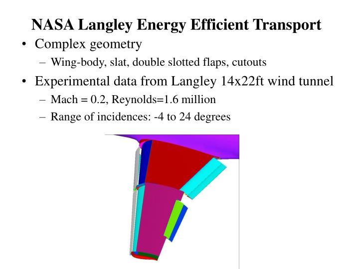 NASA Langley Energy Efficient Transport