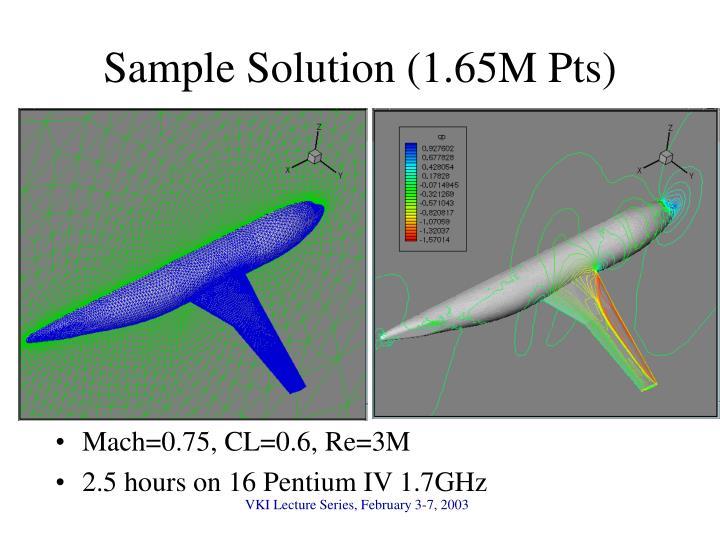 Sample Solution (1.65M Pts)