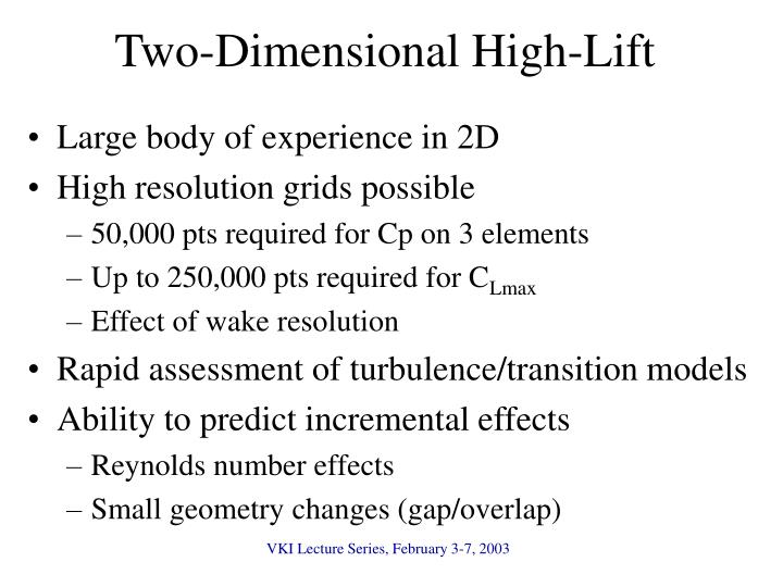 Two-Dimensional High-Lift