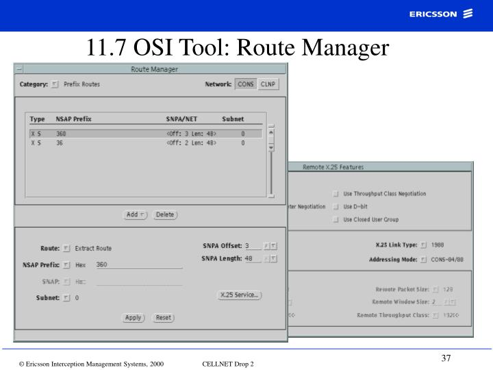 11.7 OSI Tool: Route Manager