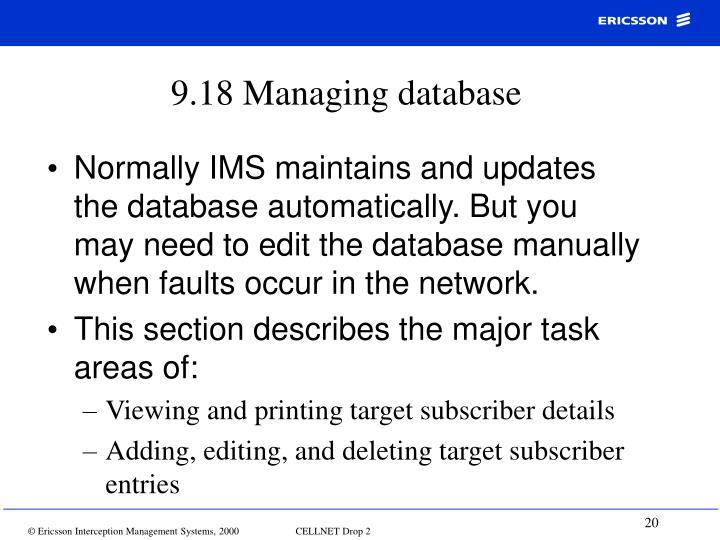 9.18 Managing database