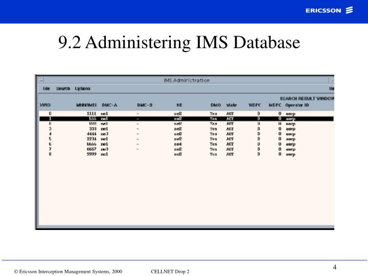 9.2 Administering IMS Database