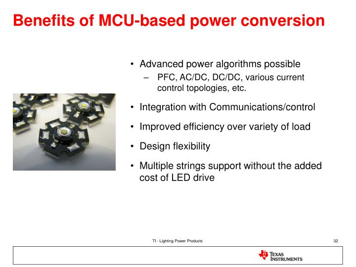 Benefits of MCU-based power conversion