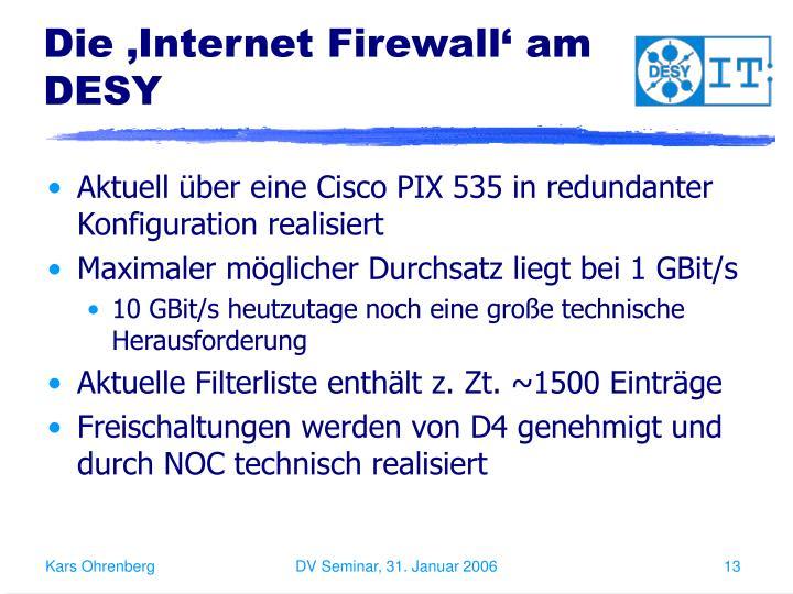 Die 'Internet Firewall' am DESY