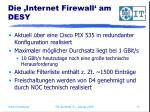 die internet firewall am desy