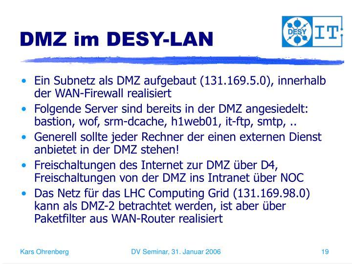 DMZ im DESY-LAN