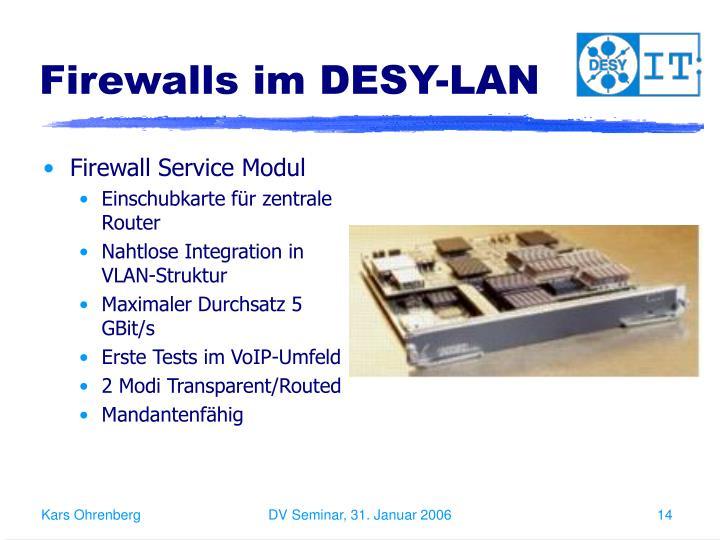 Firewalls im DESY-LAN