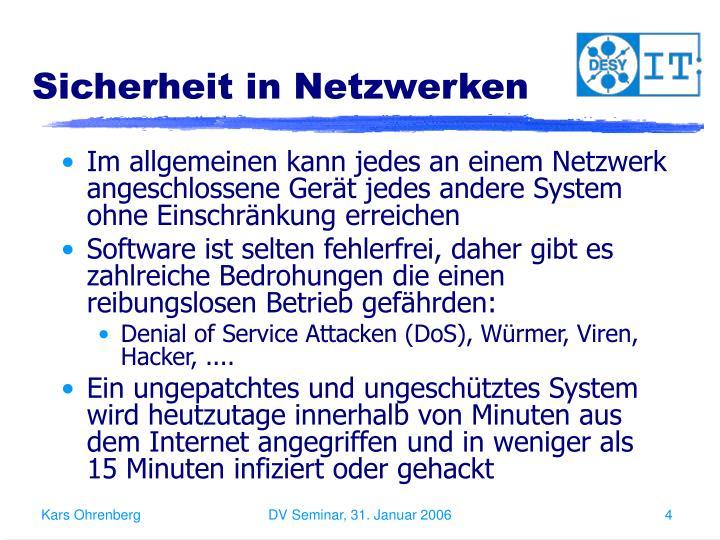 Sicherheit in Netzwerken
