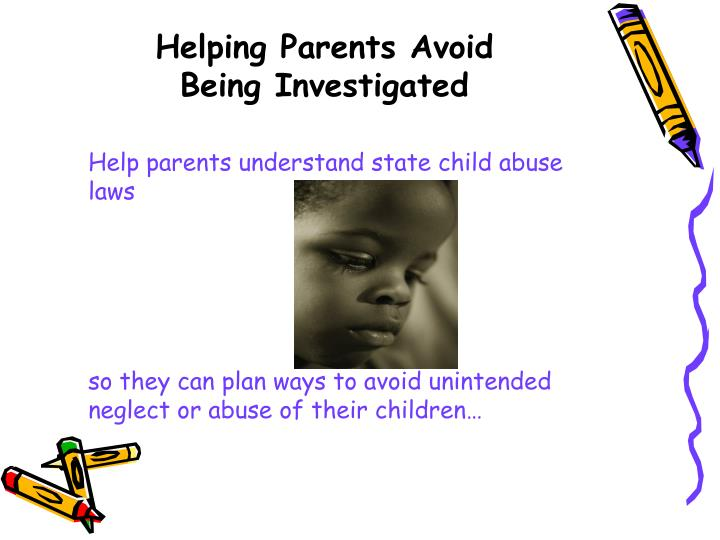 Help parents understand state child abuse laws