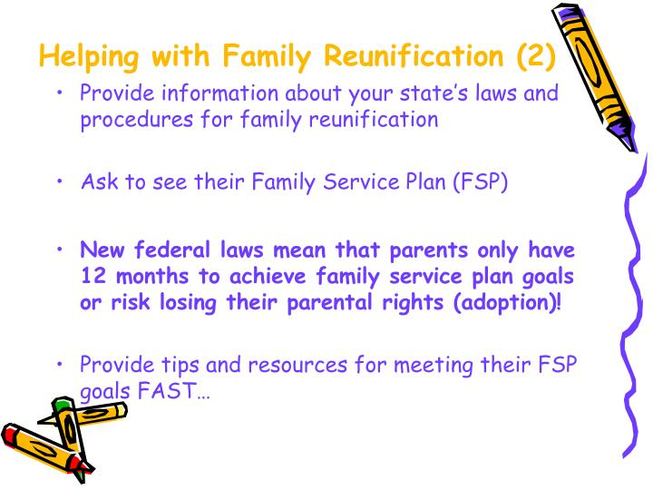 Helping with Family Reunification (2)