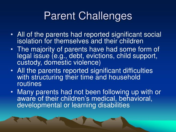 Parent Challenges