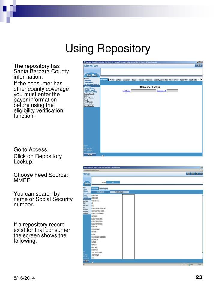 Using Repository