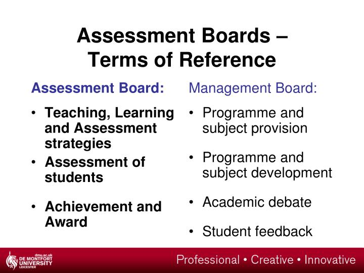 Assessment Board: