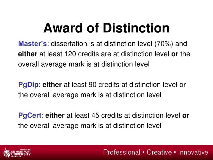 Award of Distinction