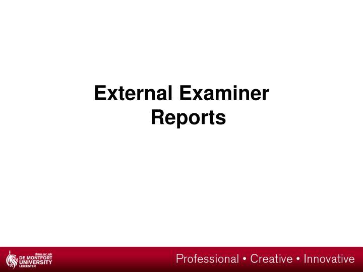 External Examiner