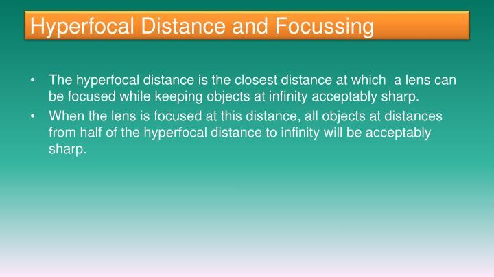 Hyperfocal