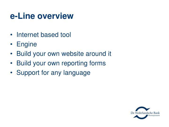 e-Line overview