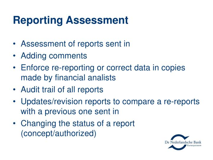Reporting Assessment