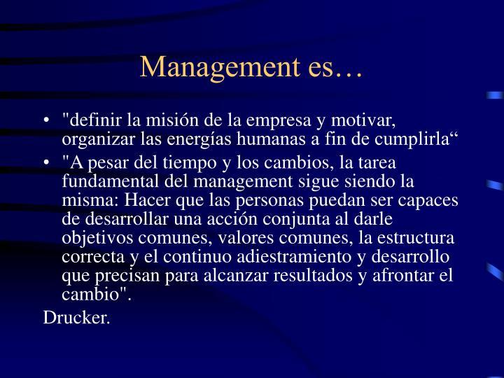 Management es…