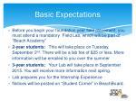 basic expectations