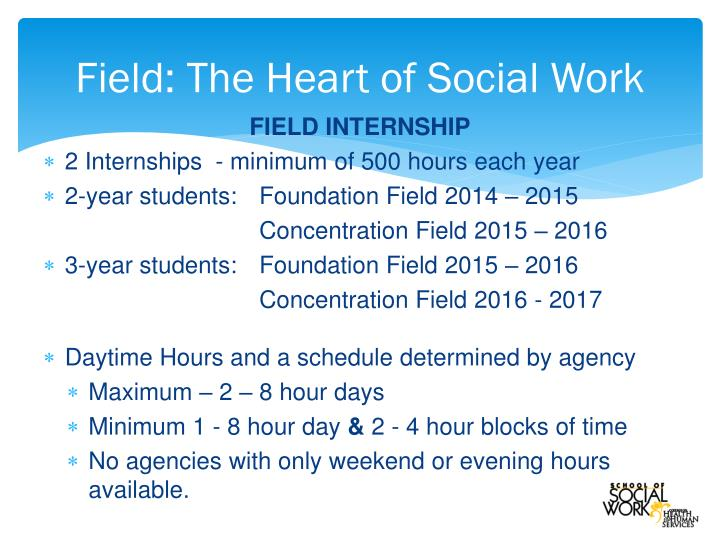 Field the heart of social work