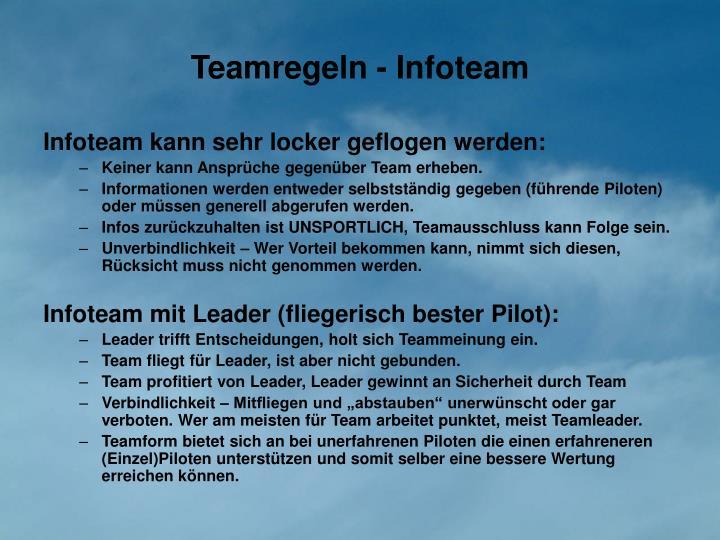 Teamregeln - Infoteam
